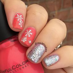 Cute little snowflake stickers from @bornprettystore (item ID 22966) make a quick and super easy mani!!!!! @sinfulcolors_official Cream Pink topped with @chinaglazeofficial Fairy Dust along with @chinaglazeofficial Polarized make for a cute base for the silver snowflake stickers. Code JDGK31 will get you 10% off from www.bornprettystore!  @bornprettynailart @bornprettystorenailart