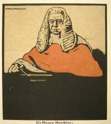 Sir William Nicholson, (1872-1949)  The Judge, Sir Henry Hawkins