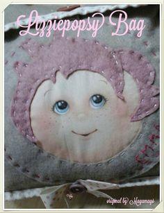 Un particolare della mini bag Lizziepopsy...