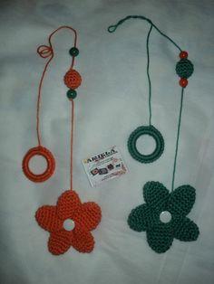 Lindos móbiles de flores feitos em crochê. <br>Preço por 2 unidades