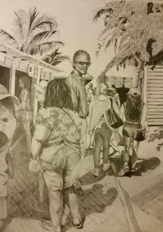 Pencil drawing by Traci Mims jones