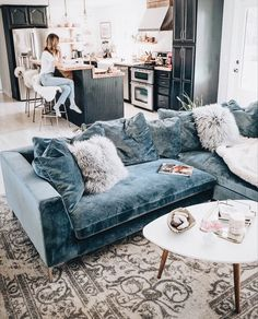 193 Best Velvet Living Room Images