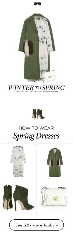 """Winter to Spring Layers"" by missiopa on Polyvore featuring Leur Logette, Raquel Allegra, Gianvito Rossi, Salvatore Ferragamo, Yves Saint Laurent, contestentry, winterstyle and Wintertospring"