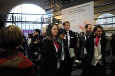 Forum de la Mixité 2013 sous le haut patronage de Najat Vallaud-Belkacem accompagné de Carole Michelon (à gauche) et Emmanuelle Gagliardi (à droite), Organisatrices du Forum de la Mixité et Fondatrices de CONNECTING WoMEN Agency.