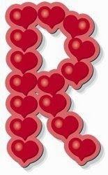 Alfabeto hecho de corazones | Alfabeto hecho de corazones.