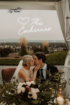 The florals and this neon sign at Mikayla and Nick's reception were incredible! I had so much fun playing with flash and capturing these two cuties!