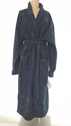 770a9886d1 New Plaid Robe One Size Club Room Plush Fleece Mens Jacket Belted