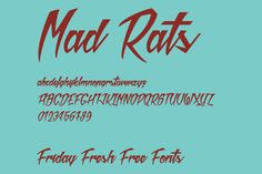 Friday Fresh Free Fonts Script Alphabet, Great Fonts, Graphic Design Typography, Rats, Improve Yourself, Friday, Design Inspiration, Free, Clouds