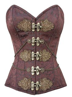 Amazing beaded brocade steampunk corset - yes this is so amazing - must be seen up close. Detail is out of this world.
