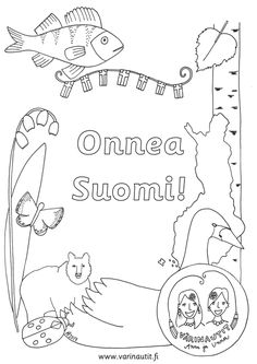 Picture Fall Crafts, Crafts For Kids, Arts And Crafts, Diy Crafts, Finnish Independence Day, Finnish Language, Pre School, Coloring Pages, Art Projects
