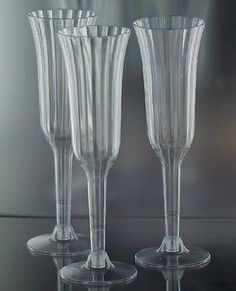 Box Of 240 Wedding Plastic Wine Champagne Flutes Disposable Gles
