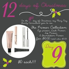 Mary Kay 12 Days of Christmas! To order colors or any other Mary Kay products or to have a complementary makeover-try-before you buy contact me Call or Text ANYTIME: (832) 278-5133 eaboyd@marykay.com http://www.marykay.com/eaboyd www.facebook.com/eaboyd06