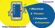 """Check out the trends of your city. Starting Today  with """"What price of home services """" Click on the  link here http://kaaryam.com"""