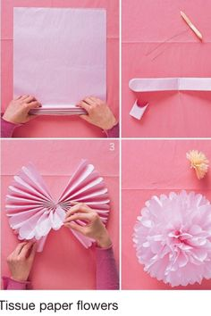 Make different sizes of pastel colours and hang them - great for summer parties