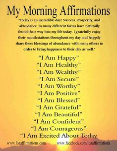 #Morning Affirmations