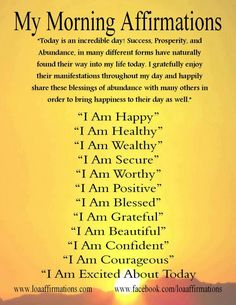 #Morning Affirmations