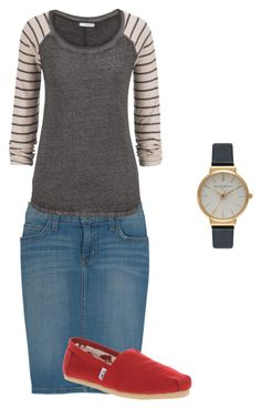"""""""Casual"""" by lars0901 ❤ liked on Polyvore featuring Current/Elliott, maurices, TOMS and Olivia Burton"""