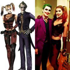 Arkham Asylum Joker and Harley Quinn. Cosplay / Halloween costume