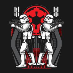 Shop TWINS OF DESTRUCTION - Stormtroopers twins t-shirts designed by as well as other twins merchandise at TeePublic. Stormtrooper Art, Imperial Stormtrooper, Evil Empire, Star Wars Pictures, The Empire Strikes Back, Star Wars Tshirt, Love Stars, Star Wars Art, Star Trek