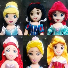 Wholesale/Retail dsney princess plush Aurora ariel Cinderella snow white soft toys for babay Christmas gifts