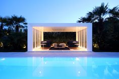 View the full picture gallery of Jesolo Lido Beach Villa Lido Beach, Beach Villa, Sunken Patio, Outside Room, Beachfront Property, Hotel Pool, Modern Landscaping, Jacuzzi, Gazebo