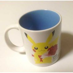 Pokemon Center 2013 15th Anniversary Pikachu Bulbasaur Squirtle Cyndaquil & Friends Ceramic Mug (Blue) Lottery Prize NOT SOLD IN STORES