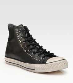 6ee9ac10e3c05 Converse - Black John Varvatos Studded Leather High-tops for Men - Lyst