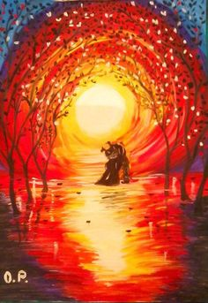 love & sunset