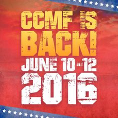 Mark your calendar because The Carolina Country Music Festival (CCMF) will return to Myrtle Beach, South Carolina June 9-12, 2016!  Click on the pin for info and we hope to see you there!