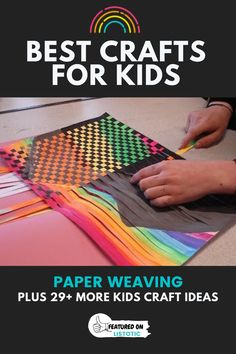 Paper weaving is a fun way to make really cool artwork. This list of craft ideas for kids are still fun for adults too! Get all the fun craft ideas on Listotic. Adult Crafts, Diy Home Crafts, Easy Diy Crafts, Diy Craft Projects, Craft Ideas, Baby Crafts, Mothers Day Crafts For Kids, Crafts For Kids To Make, Kids Crafts
