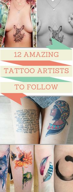 Our top favourite tattoo artists to inspire and amaze you! Check them out here!