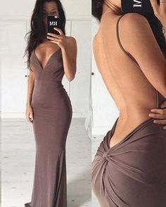Custom Made Appealing Sexy Prom Dresses, Mermaid Prom Dresses, Long Prom Dresses, Backless Prom Dresses Backless Prom Dresses, Mermaid Prom Dresses, Prom Party Dresses, Sexy Dresses, Evening Dresses, Dress Prom, Elegant Dresses, Brown Prom Dresses, Party Gowns