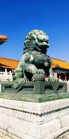 Chinese Lion Jade Statue #500px #Photography