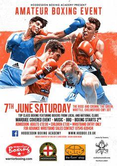 hoddesdon boxing poster design