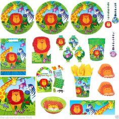 WILD KINGDOM Jungle Animals Birthday Party Supplies Tableware Decorations