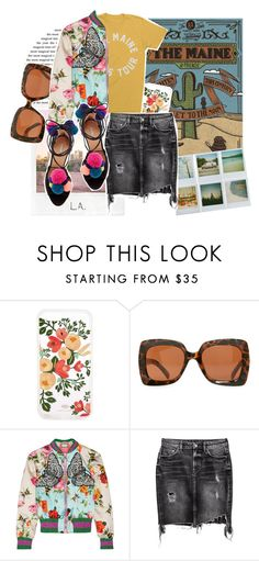 """""""Unbenannt #205"""" by whenitsnotalright ❤ liked on Polyvore featuring Polaroid, Rifle Paper Co, Quay, Gucci and H&M"""