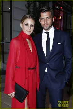 Olivia Palermo & Johnnes Huebl Hang Out at amfAR Dinner in Paris!