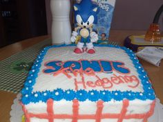 Sonic the Hedgehog cake for my niece,s 5th birthday