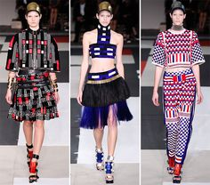 Spring/ Summer 2014 Print Trends - Graphic Geometric Prints  #trends #fashion