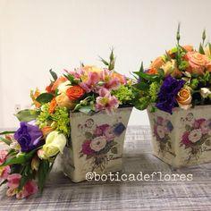 Diseño floral vintage en tonos caribeños. La botica de las flores