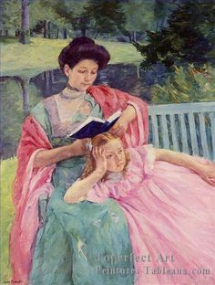 4 Auguste Lecture To Her Fille Impressionisme Meres Enfants Mary Cassatt
