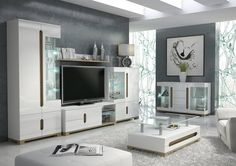 BLOSSOM White Gloss Sideboard Glass Door | Bright & Breezy