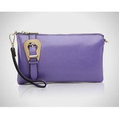 Donna Bella Designs DBLC01-ORC Genuine Italian Leather Clutch Handbag with  Remov Donna Bella ab166edc00d