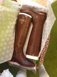 Kiernan Riding Boots from Tory Burch. I'm in love. Really.