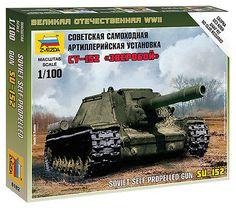 6182 soviet su-152 #assault gun - #zvezda 15mm 1/100 #russian - ww2 flames of war,  View more on the LINK: http://www.zeppy.io/product/gb/2/162156432235/