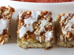 Almond Brickle Coffee Cake - Can't Stay Out Of The Kitchen
