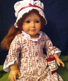 """Retired American Girl Felicity doll Original Rose Garden Dress 1992 + more 18"""""""