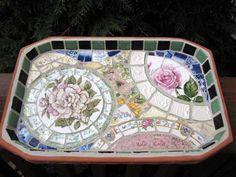 vintage china mosaic tray...lovely & easy!!