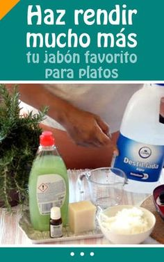 Haz rendir mucho más tu jabón favorito para platos. ¡Un truco eficaz para ahorrar dinero! #ahorrar #rendir #jabon #dinero #DIY #video #tutorial