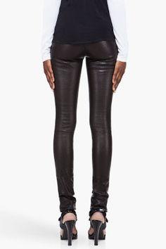 5fc8efa930 Black Perforated Leather Pants by CUSHNIE ET OCHS